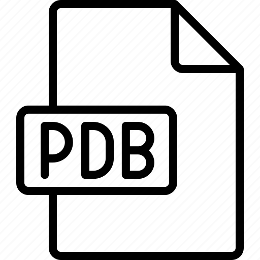 document, extension, file, format, pdb icon