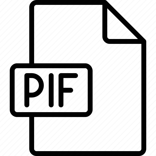 document, extension, file, format, pif icon