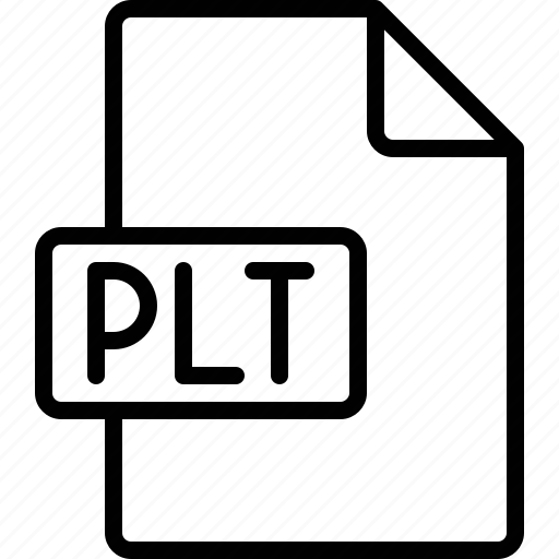 document, extension, file, format, plt icon