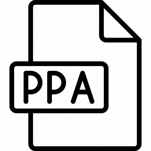 document, extension, file, format, ppa icon