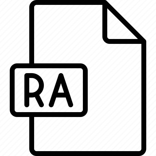 document, extension, file, format, ra icon