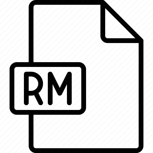 document, extension, file, format, rm icon