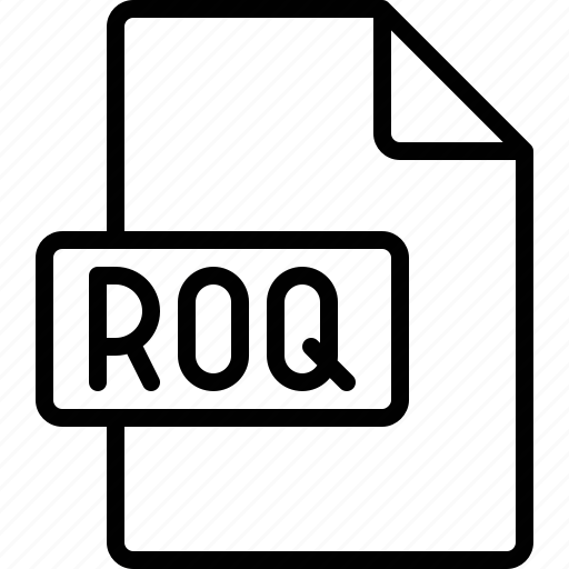document, extension, file, format, roq icon