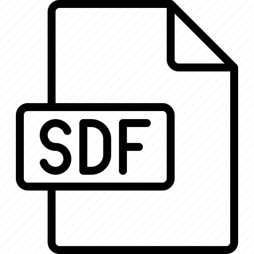 document, extension, file, format, sdf icon