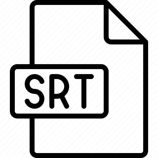 document, extension, file, format, srt icon