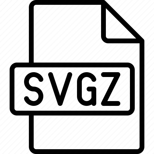 document, extension, file, format, svgz icon