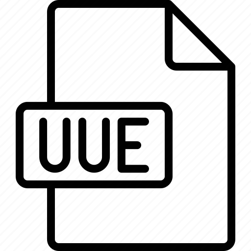document, extension, file, format, uue icon