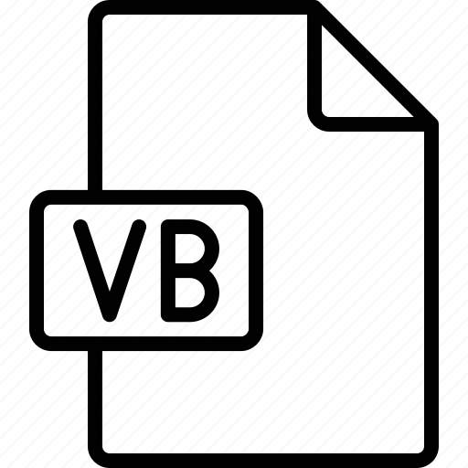 document, extension, file, format, vb icon