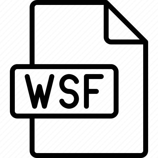 document, extension, file, format, wsf icon