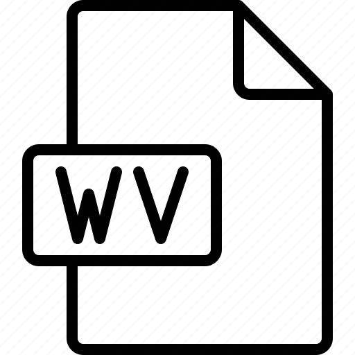 document, extension, file, format, wv icon