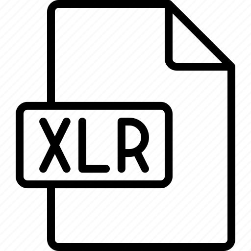 document, extension, file, format, xlr icon