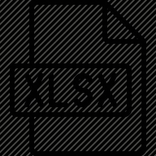 document, extension, file, format, xlsx icon