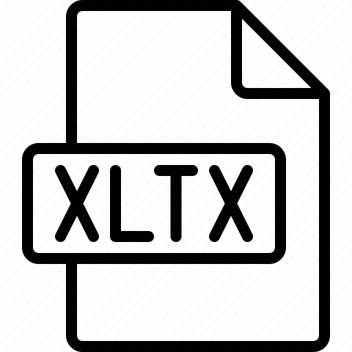 document, extension, file, format, xltx icon