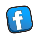 buttons, facebook icon