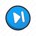 buttons, next, player icon