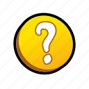 buttons, question, question mark icon