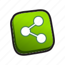 buttons, share icon