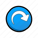 buttons, jump, skip icon