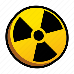 danger, explosion, nuclear, powerups icon
