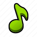 active, music, on, toggle icon