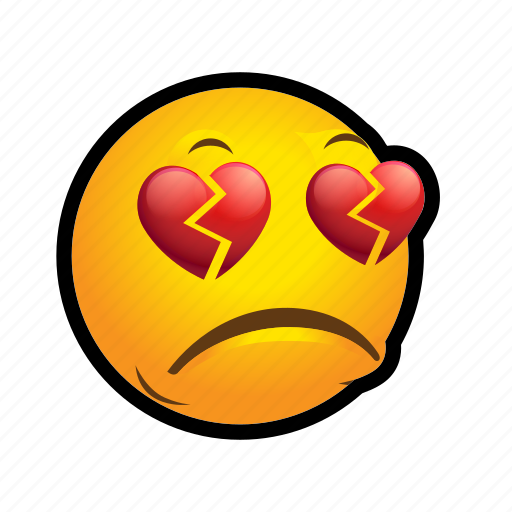 broken, emoticon, heart icon