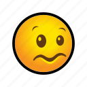 confused, emoticon icon