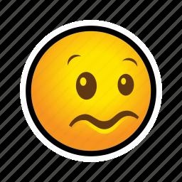 confused, emoticon icon