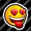 crush, emoticon, heart icon