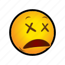 dead, emoticon icon