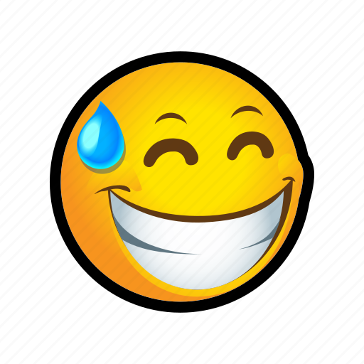 embarassed, emoticon, smile icon