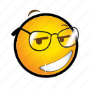 emoticon, glasses, smile icon