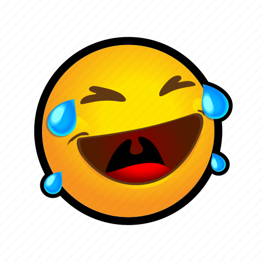 emoticon, laughing, loud, out icon