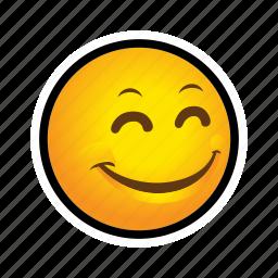 emoticon, pleased, smile icon