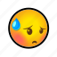 embarrassed, emoticon, face, shy, smiley icon