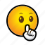 emoticon, silence icon