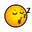 emoticon, sleep, zzz icon
