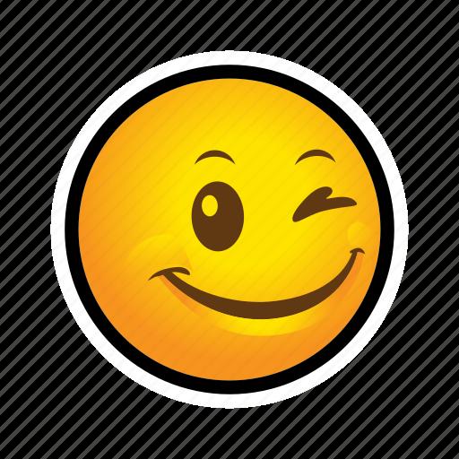 blink, emoticon, smile icon