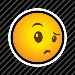 emoticon, suspicious icon