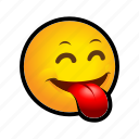 emoticon, out, tongue