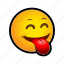 emoticon, out, tongue icon