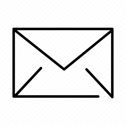 envelope, inbox, letter, mail, message, post, social icon