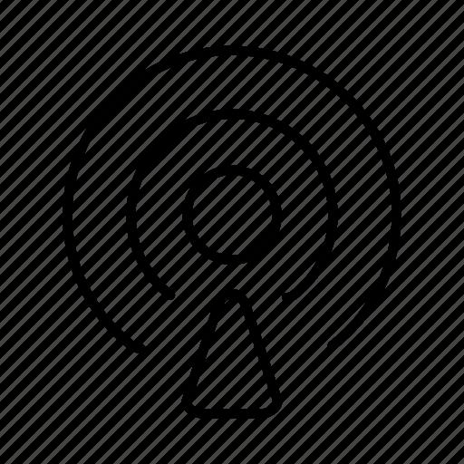 audio, internet, network, online, podcast, radio, record icon