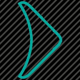 arrows, forward, next, play, right icon