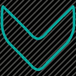 arrow, arrows, direction, down, download, location icon