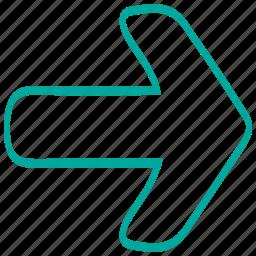 arrows, next, pointer, print, right icon
