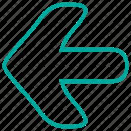 arrow, arrows, direction, left, pointer icon