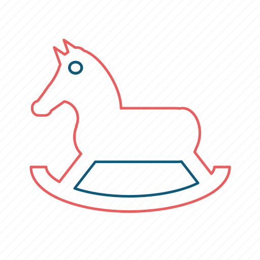 children, horse, horsy, kids, play, rocking horse, toy icon