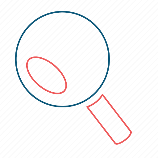 find, magnifier, magnifying, magnifying glass, search, view, zoom icon