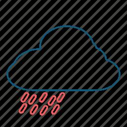cloud, elements, rain, weather icon
