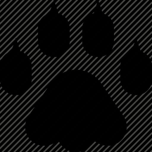 cat, pawprint icon